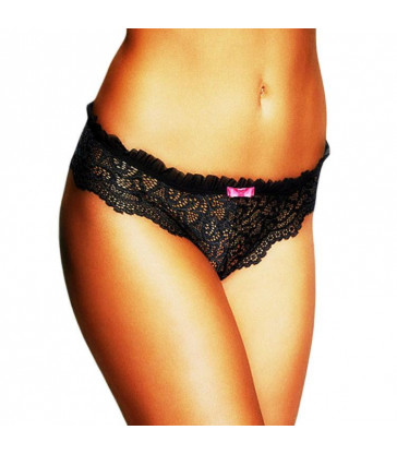 QUEEN LINGERIE ORIGINAL CULOTTE BORDADO NEGRO