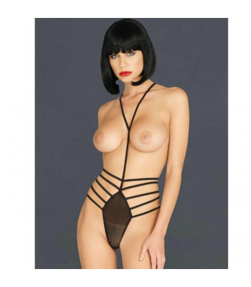 LEG AVENUE KINK BODY HARNESS G-STRING TEDDY TALLA UNICA