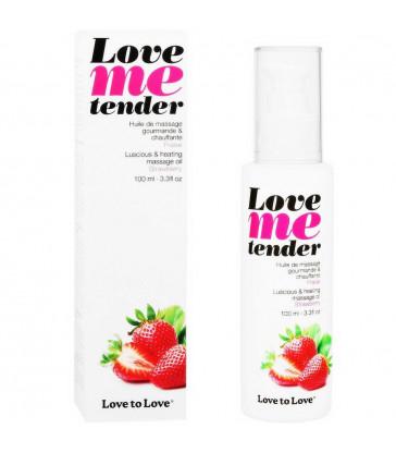 LOVE TO LOVE ME TENDER MASAJE & EFECTO CALOR SABOR A FRESA 100ML