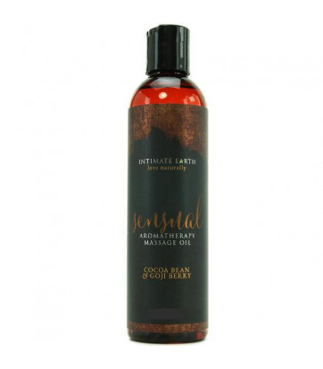 INTIMATE EARTH ACEITE MASAJE AROMATERAPIA CACAO Y BAYA 120ML