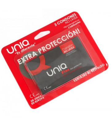 UNIQ FREE ARO PROTECTOR PRESERVATIVO SIN LATEX  3UDS
