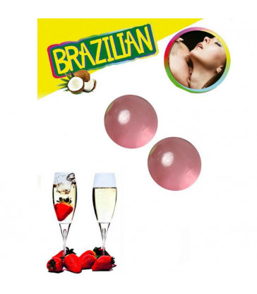 SET 2 BRAZILIAN BALLS FRESAS CON CAVA