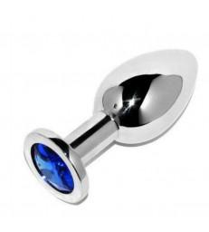 METALHARD ANAL PLUG DIAMOND BLUE SMALL 5.71CM
