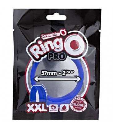SCREAMING O - ANILLO PENE Y TESTICULOS RING O XXL - AZUL