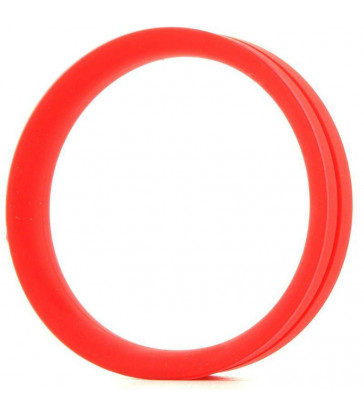 SCREAMING O - ANILLO PENE Y TESTICULOS RING O XXL - ROJO